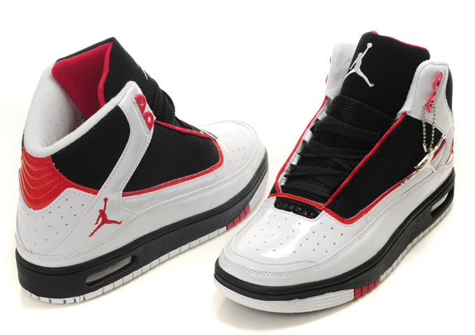 2011 Air Jordan Shoes Black Red White