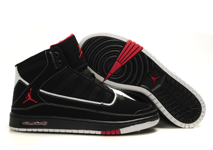 2011 Air Jordan Shoes Black Red