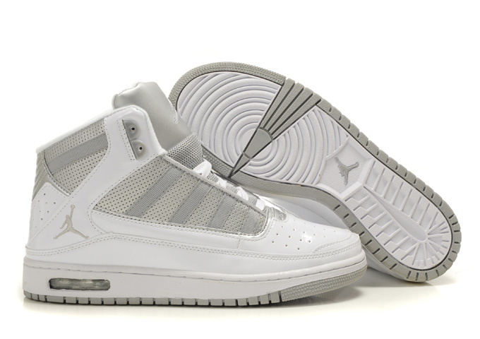 2011 Air Jordan Shoes White Silver