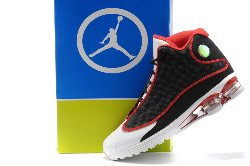 2012 Air Cushion Jordan 13 Black White Red