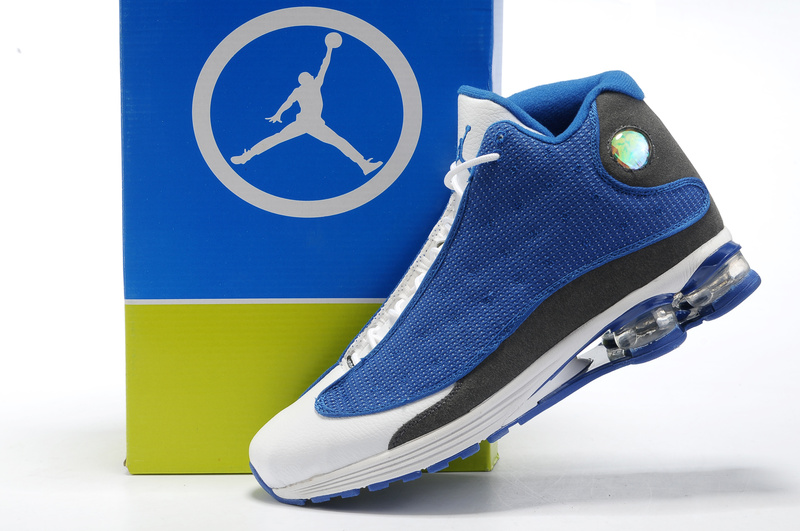 2012 Air Cushion Jordan 13 Blue White Grey