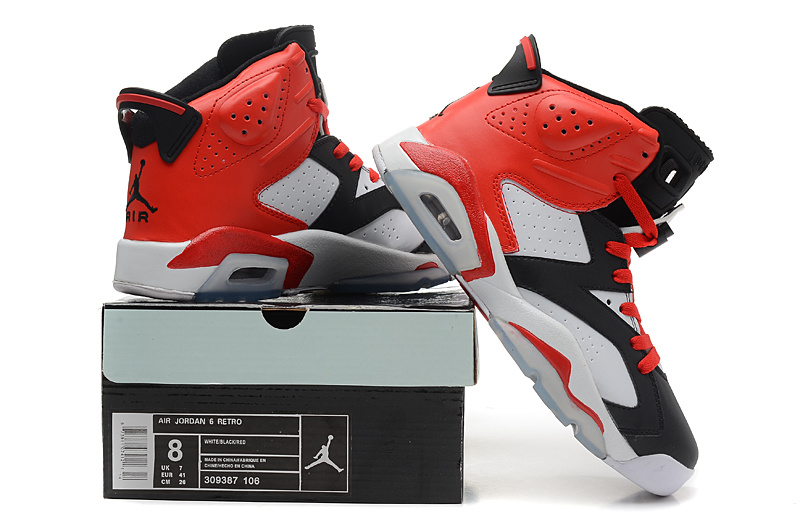 2014 Air Jordan 6 Retro Black Red White Shoes