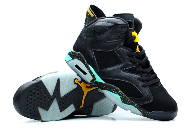 2014 Air Jordan 6 Retro Dark Blue Green Shoes