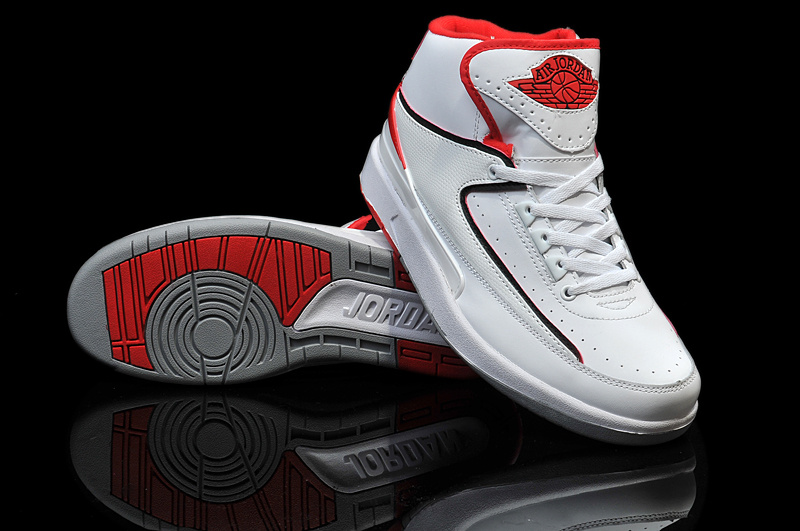 2014 Jordan 2 Retro White Red Shoes