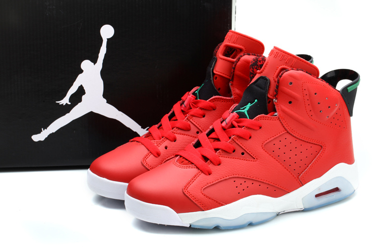 2014 Jordan 6 MVP History Of Jordan Red White Shoes