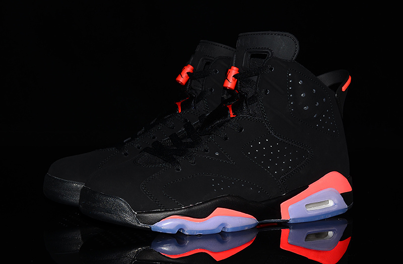 2014 New Jordan 6 Infrared Ray Black Red Shoes