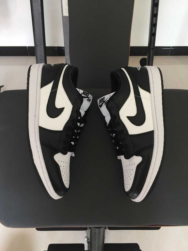 2015 30th Air Jordan 1 Low Black White Shoes
