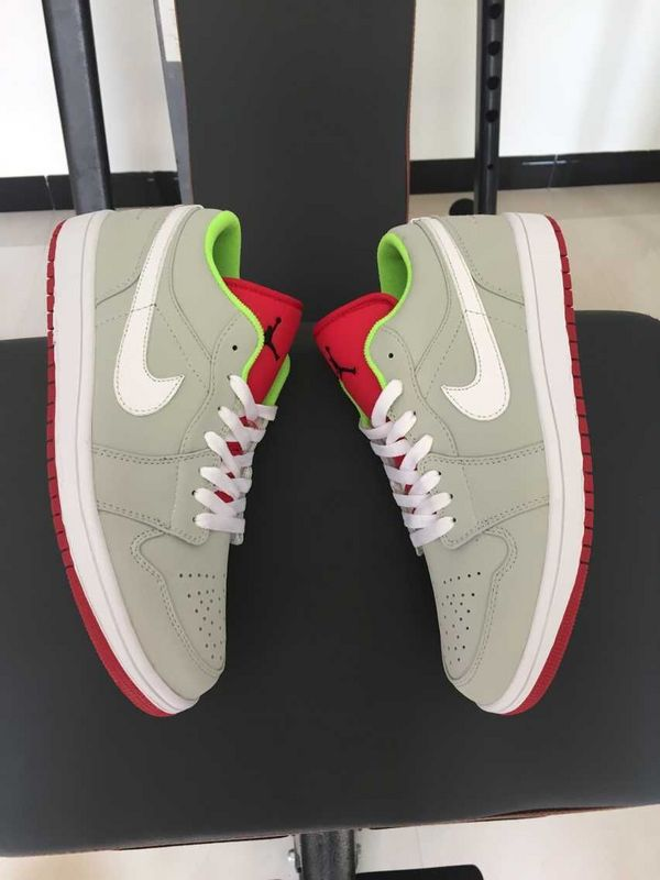 2015 30th Air Jordan 1 Low Grey Red Green Shoes