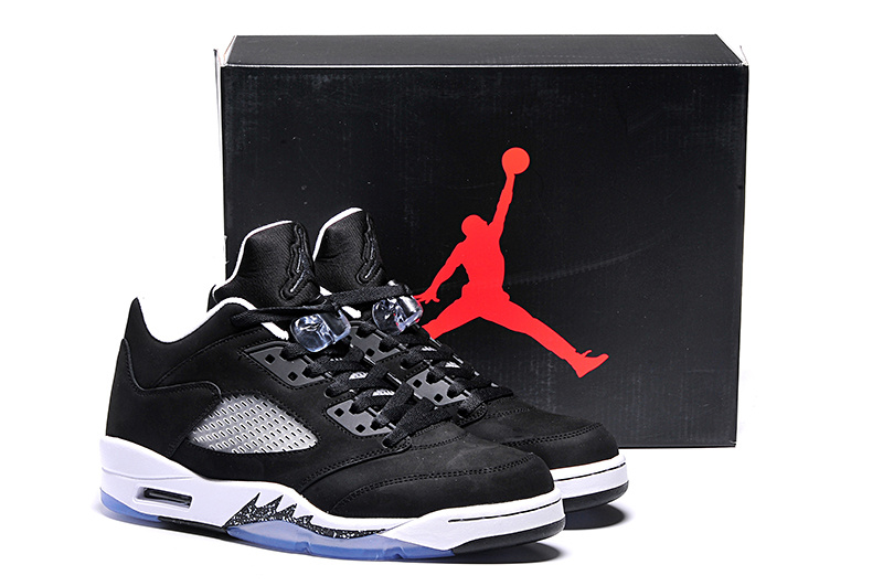 New Arrival Ai Jordan 5 Retro Low Oreo Black White Shoes