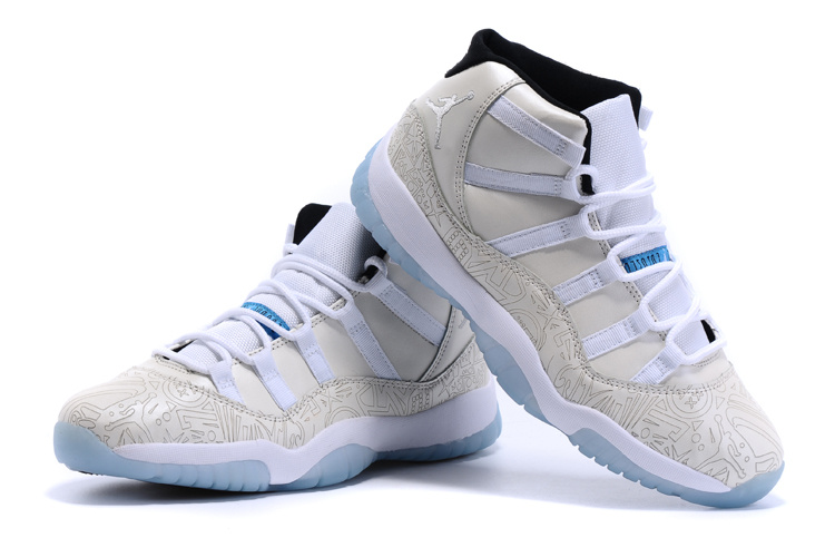 New Arrival Air Jordan 11 LAB4 White Baby Blue Shoes