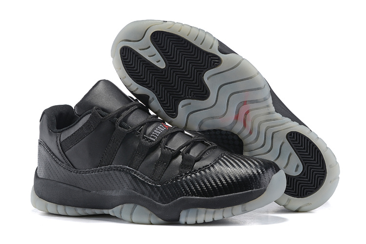 New Air Jordan 11 Retro All Black Transparent Sole Shoes