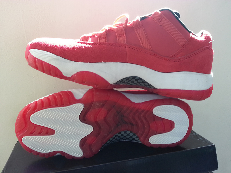 2015 Air Jordan 11 Retro Low Red White Shoes