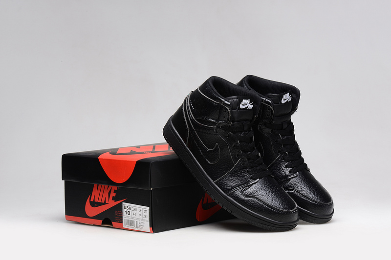 2015 Air Jordan 1 Retro All Black Shoes