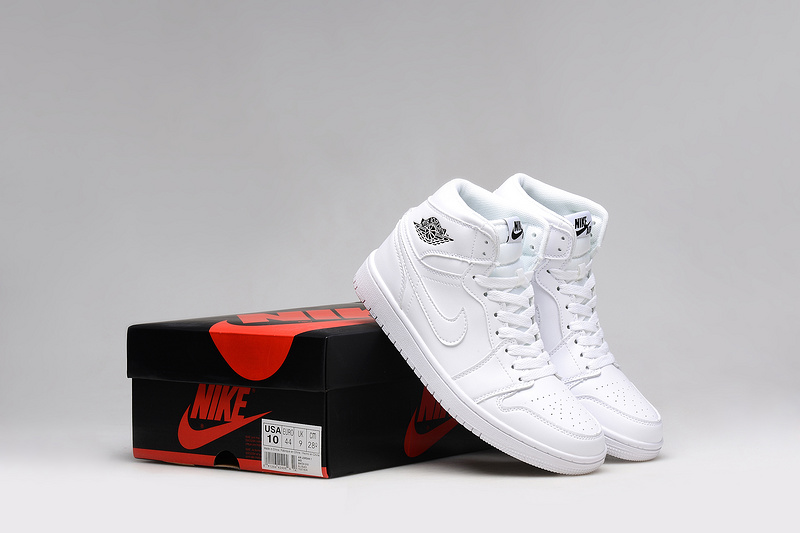 2015 Air Jordan 1 Retro All White Shoes