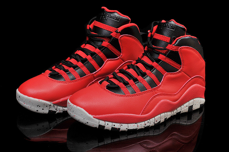 2015 Jordan 10 Retro Red Black Shoes