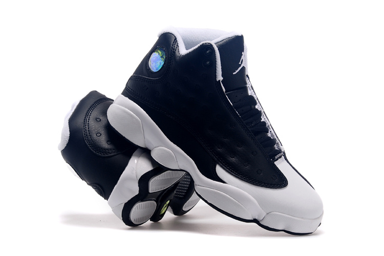 2015 Air Jordan 13 Retro Oreo Black White Shoes