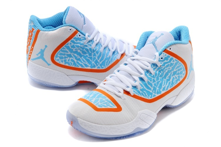 2015 Jordan 29 White Blue Orange Shoes