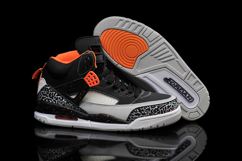 2015 Air Jordan Spizike Black Orange Grey Shoes