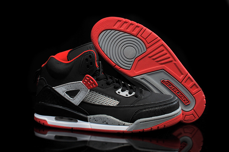 2015 Air Jordan Spizike Black Red Grey Shoes
