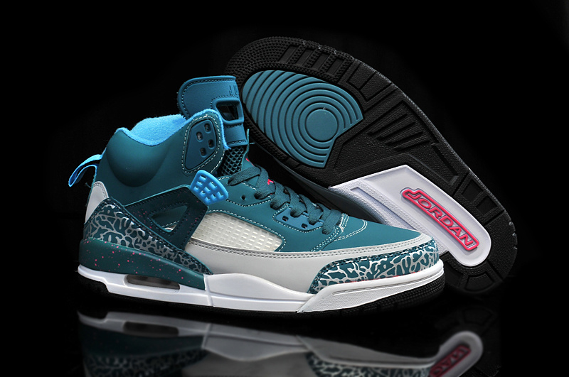 2015 Air Jordan Spizike Cement Green Grey Shoes