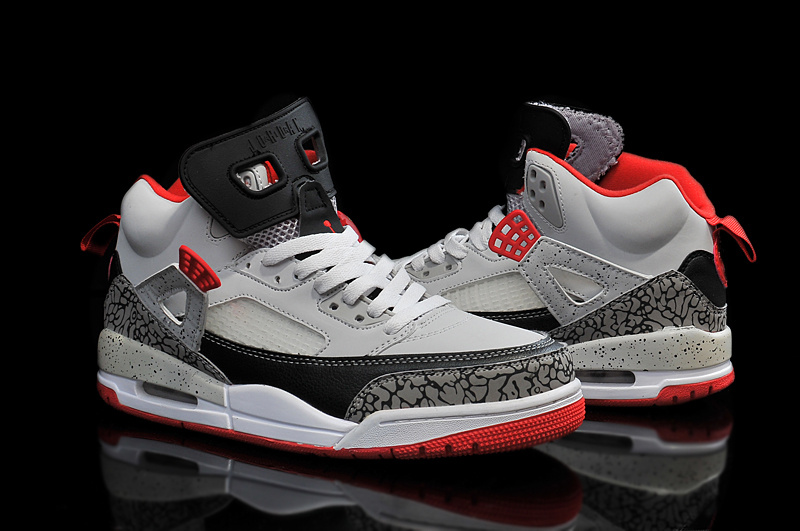 2015 Air Jordan Spizike Grey Black Red Shoes