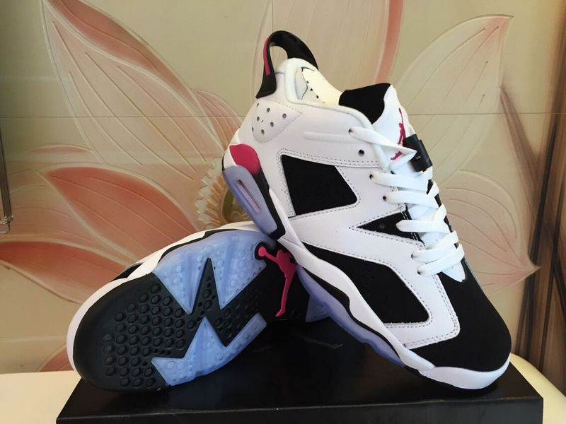 2015 Jordan 6 Low White Black Shoes