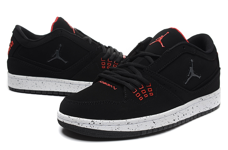 Latest Air Jordan 1 Flight Low Black Red Shoes