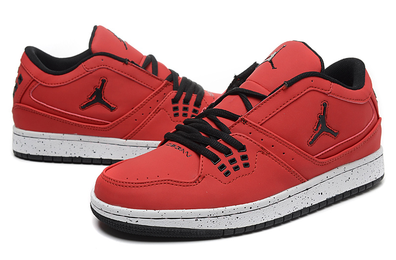 Latest Air Jordan 1 Flight Low Red Black Shoes