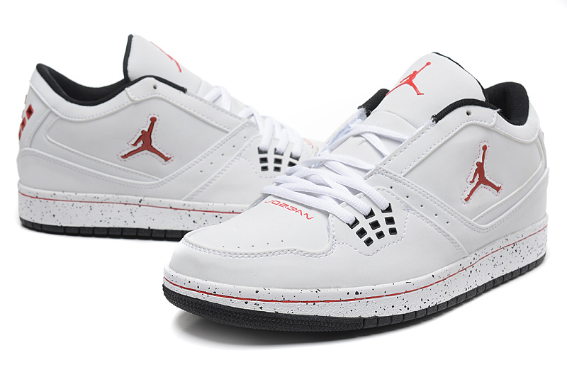 Latest Air Jordan 1 Flight Low White Red Jumpman Shoes