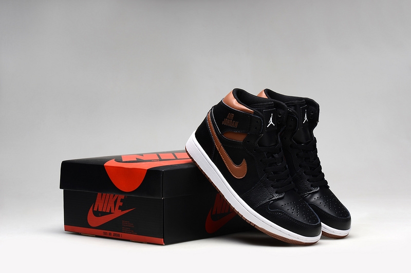 Latest 2015 Air Jordan 1 Retro Black Copper Shoes