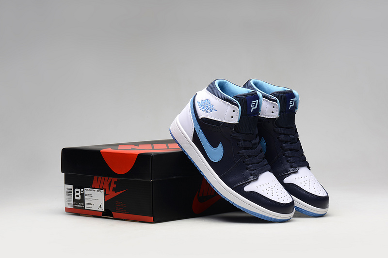 Latest 2015 Air Jordan 1 Retro CP3 White Army Blue Shoes