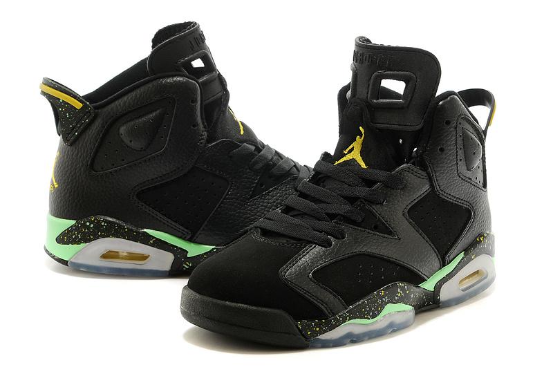 Latest 2015 Air Jordan 6 Retro Black Green Shoes