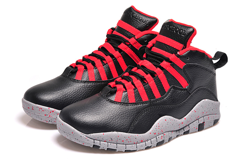 Latest Air Jordan 10 Retro Black Red Shoes