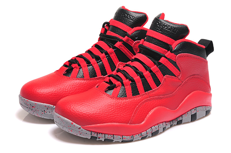 Latest Air Jordan 10 Retro Red Black Shoes