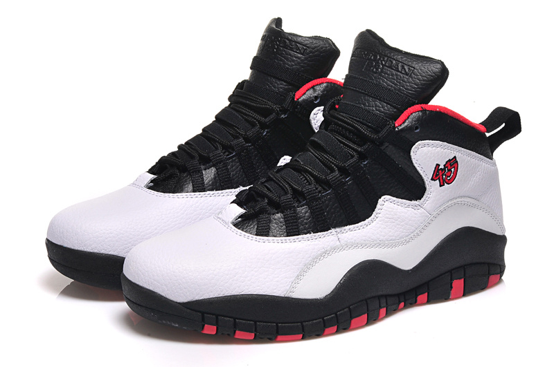 Latest Air Jordan 10 Retro White Black Red Shoes