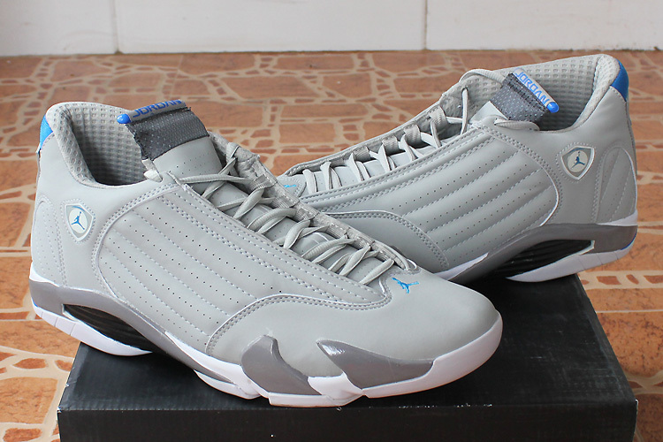Latest Jordan 14 White Grey Shoes