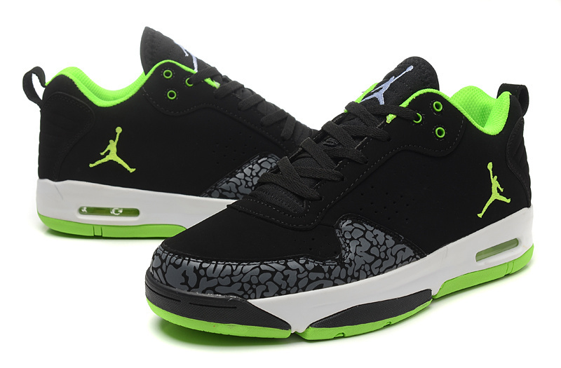 Latest Jordan Cement Black Green White Shoes