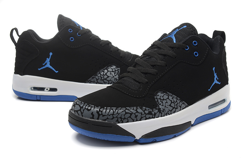 Latest Jordan Cement Black Blue White Shoes