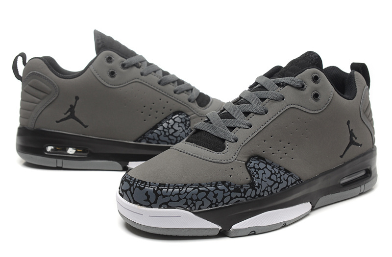 Latest Jordan Dark Grey Cement Black White Shoes