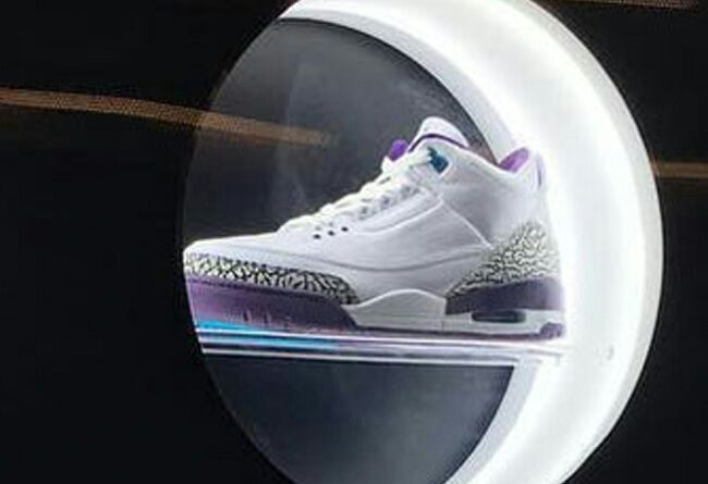 New Air Jordan 3 Retro Hornet White Purple