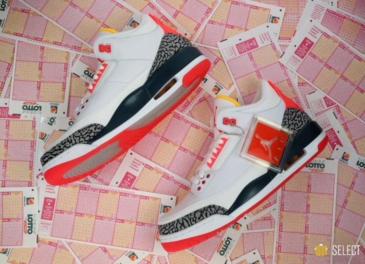 New Air Jordan 3 Retro White Cement Red