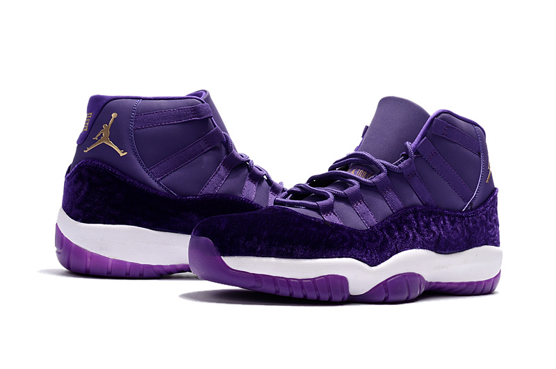 2017 Jordan 11 Velvet Heiress Purple Shoes
