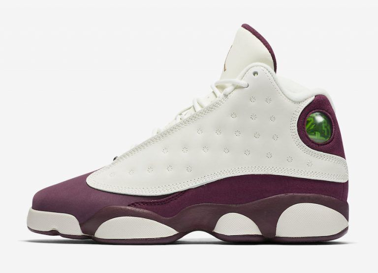 2017 New Jordan 13 Retro White Wine Red Shoes