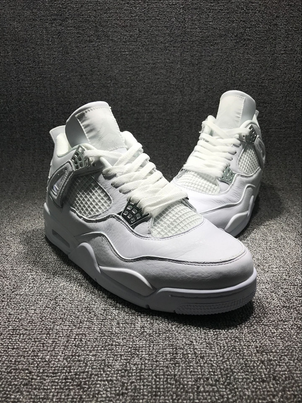 2017 Release Jordan 4 All White Shoes