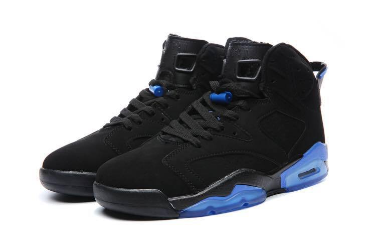 New 2017 Jordan 6 Retro Black Blue Shoes