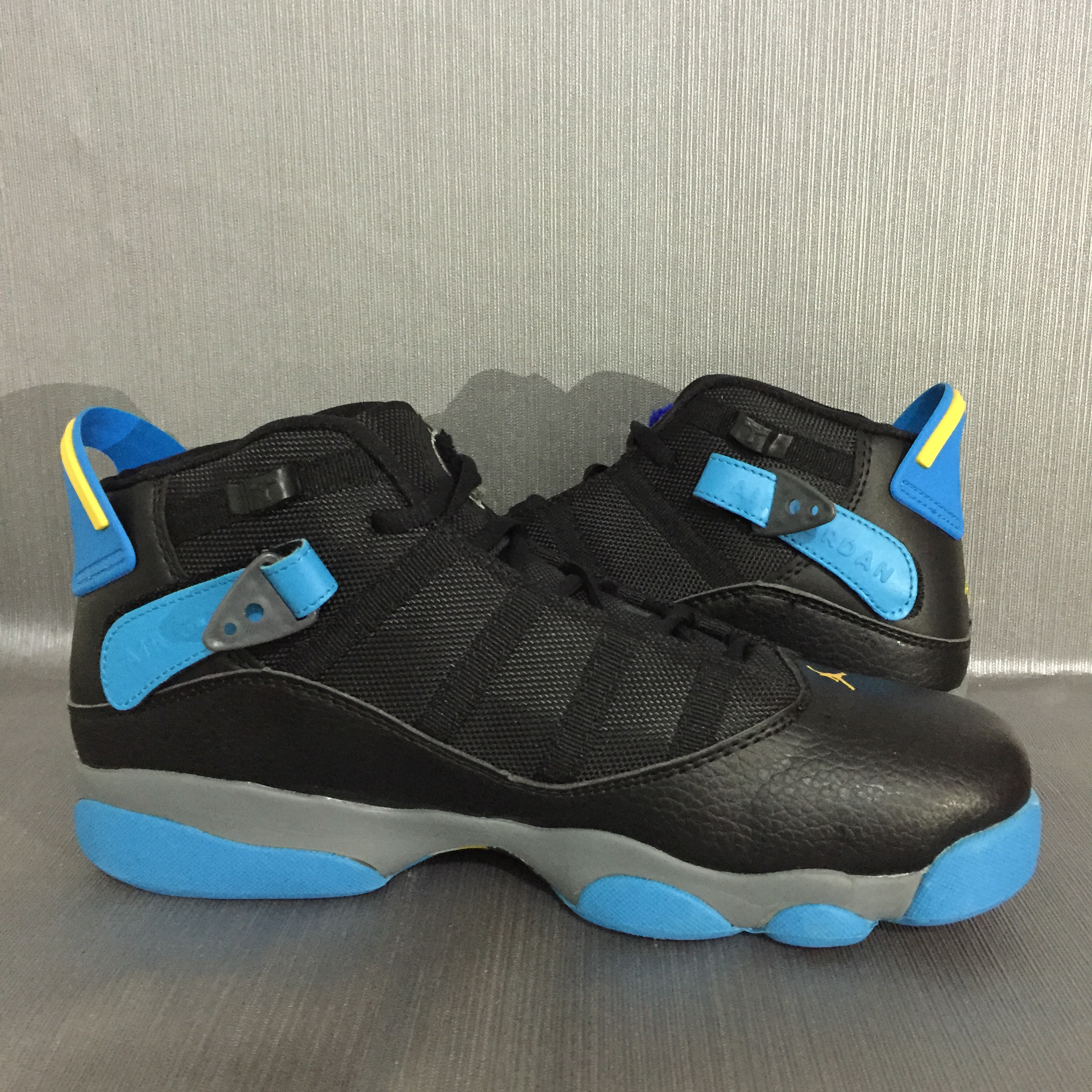 New Jordan 6 Rings Black Blue Yellow Shoes