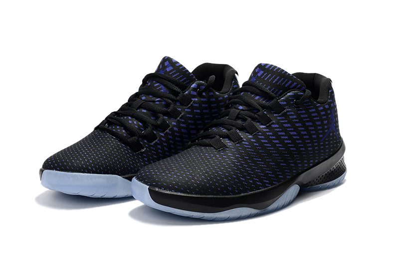 Newest Jordan Basketball SHoes Black Blue