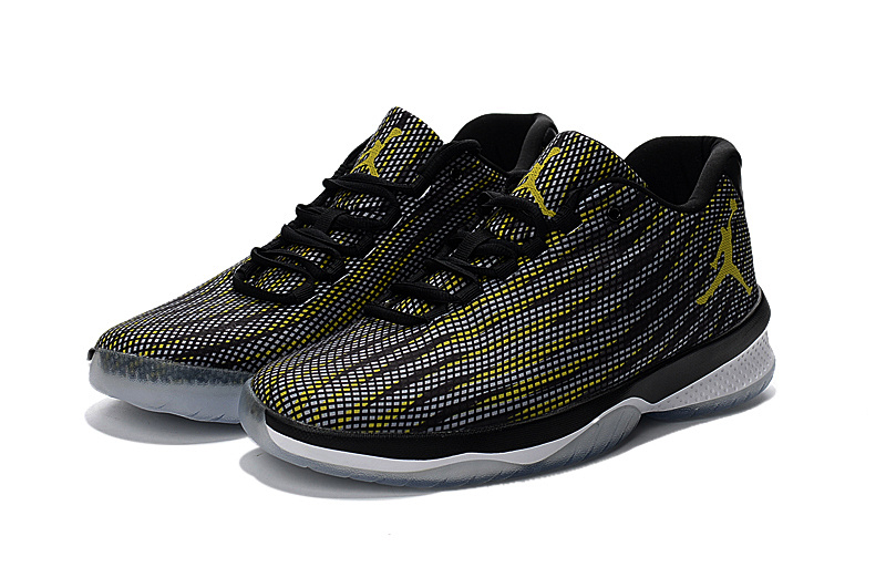 2017 Jordan Black Yellow Basketball Shoes