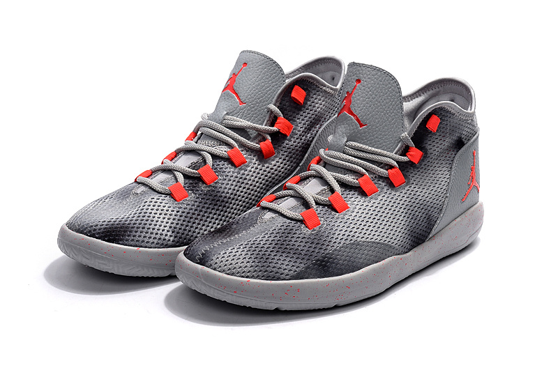2017 Jordan Grey Black Red Casual Shoes