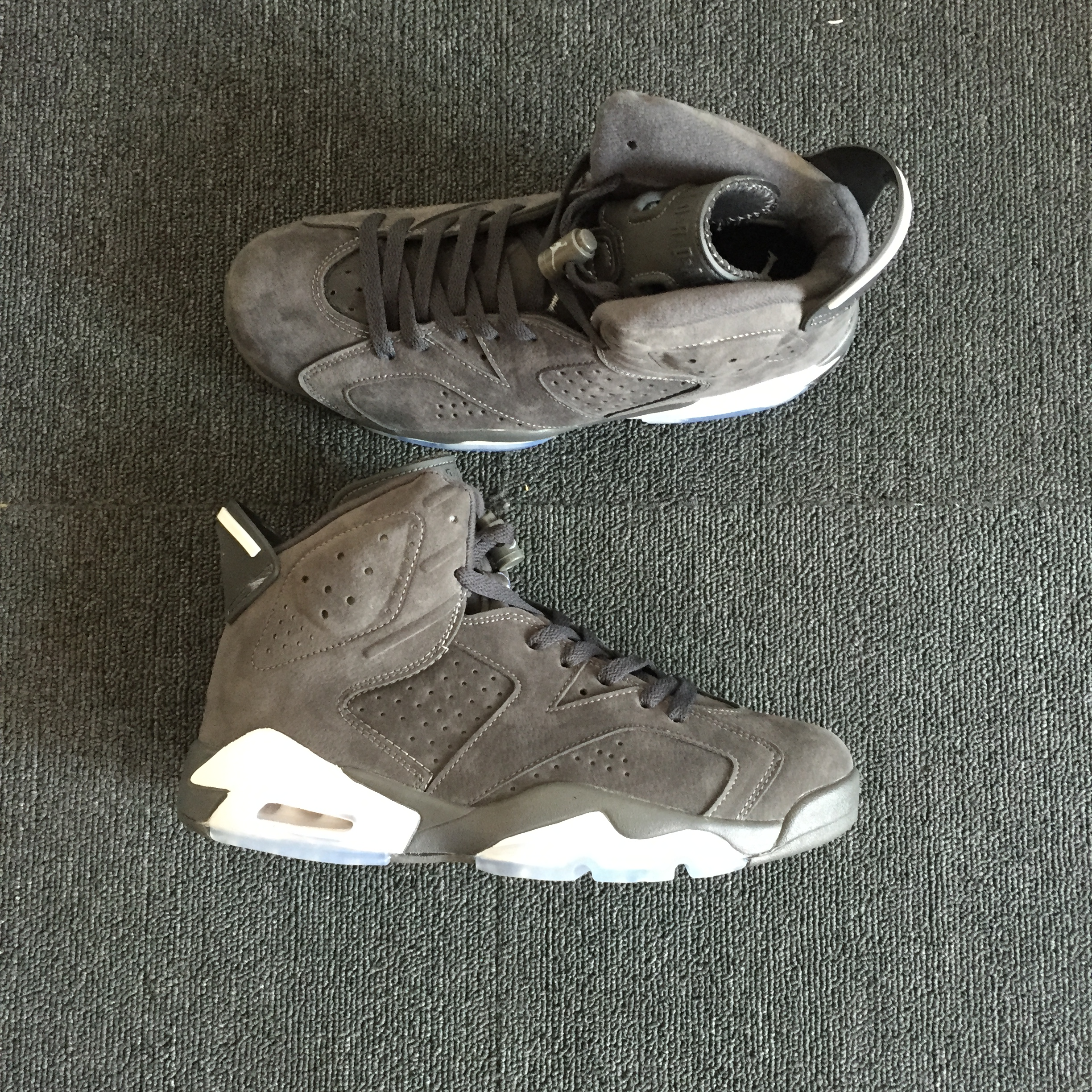 2018 Air Jordan 6 Deek Skin 3M Grey Shoes